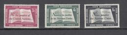 NATIONS  UNIES  NEW-YORK  1955   N° 35 à 36    NEUFS**   CATALOGUE YVERT&TELLIER - Ungebraucht