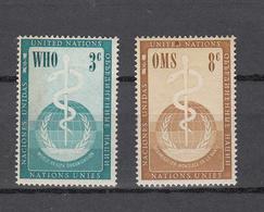 NATIONS  UNIES  NEW-YORK  1956   N° 42 - 43    NEUFS**   CATALOGUE YVERT&TELLIER - Ungebraucht