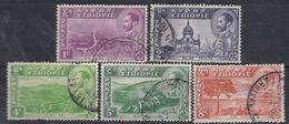 Ethiopie N° 257 / 61 O : Partie De Série Courante, Les 5 Valeurs Oblitérations Moyennes Sinon, TB - Ethiopie