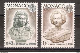 Monaco - Yt N° 957 à 958 - Neuf Sans Charnière - 1974 - Monaco