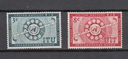NATIONS  UNIES  NEW-YORK  1956   N° 40 - 41    NEUFS**   CATALOGUE YVERT&TELLIER - Ungebraucht
