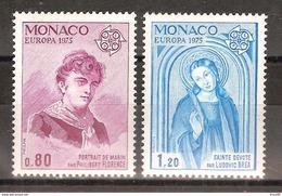 Monaco - Yt N° 1003 à 1004 - Neuf Sans Charnière - 1974 - Monaco