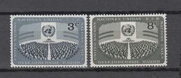 NATIONS  UNIES  NEW-YORK  1956   N° 44 - 45    NEUFS**   CATALOGUE YVERT&TELLIER - Ungebraucht