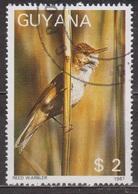 Faune, Oiseau - GUYANA - GUYANE - Fauvette Des Roseaux - N° 1769 - 1988 - Guyane (1966-...)