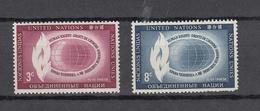 NATIONS  UNIES  NEW-YORK  1956   N° 46 - 47    NEUFS**   CATALOGUE YVERT&TELLIER - Ungebraucht