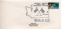 USA - FAIRFIELD WA 99012 - FLAG DAY -  CARTA GEOGRAFICA - MAPPA - Geografia
