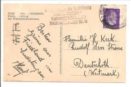 Böhmen Friedland.Volksdeutsche Mittelstelle Lager Nr 74. SS Resettlement Camp>Westmark - Covers & Documents