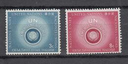 NATIONS  UNIES  NEW-YORK  1957   N° 50 - 51    NEUFS**   CATALOGUE YVERT&TELLIER - Ungebraucht