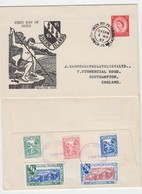 Guernsey Herm Island -1957 Neolithic Man Set 5 On FDC - Guernsey