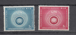 NATIONS  UNIES  NEW-YORK  1957   N° 50A - 51A    NEUFS**   CATALOGUE YVERT&TELLIER - New York -  VN Hauptquartier