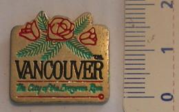 PIN'S - VANCOUVER - CANADA - Pin's & Anstecknadeln