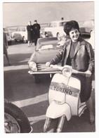 """MOTO - MOTORCYCLE - """"LAMBRETTA"""" - DONNA   - FOTO ORIGINALE - - Automobili"""