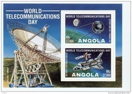 Angola 1995-Journée Mondiale Des Communiquation-satellites-B18***MNH***MNH - Space