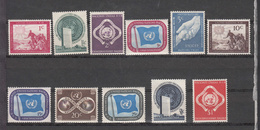 NATIONS  UNIES  NEW-YORK  1951   N° 1 à 11    NEUFS**   CATALOGUE YVERT&TELLIER - Ungebraucht