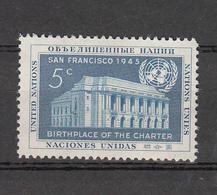 NATIONS  UNIES  NEW-YORK  1951   N° 12    NEUF**   CATALOGUE YVERT&TELLIER - New York -  VN Hauptquartier