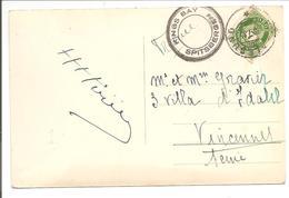 1935 Kings Bay Spitsbergen>Alesund>Vincennes France.CPA Amudsen Ellsworth Monument 1925 - Polar Philately