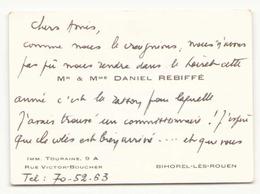 "Carte De Visite "" Rebiffé "" à Bihorel-lès-Rouen - Cartes De Visite"