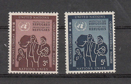 NATIONS  UNIES  NEW-YORK  1953   N° 15 - 16    NEUFS**   CATALOGUE YVERT&TELLIER - Ungebraucht