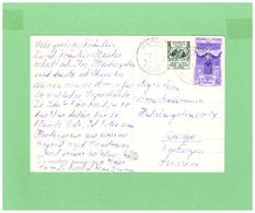 1953 VIAGGIATA X LA SVIZZERA AFFRANCATURA DI 2 DIV. FRANCOBOLLI - 1946-.. République
