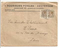 Veth 2x 22 1/2 C NVPH 190. 4e Gewicht !!! Vers Paris 1.5.28-Vignette Rouge Olympique 1928 - 1891-1948 (Wilhelmine)