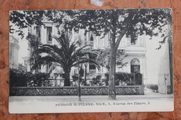 NICE (06) - PENSION ST-PIERRE - 2, AVENUE DES FLEURS, 2 - Cafés, Hotels, Restaurants