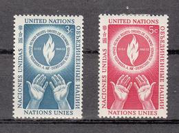 NATIONS  UNIES  NEW-YORK  1953   N° 21 - 22    NEUFS**   CATALOGUE YVERT&TELLIER - New York - Sede De La Organización De Las NU