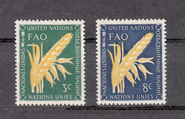 NATIONS  UNIES  NEW-YORK  1954   N° 23 - 24    NEUFS**   CATALOGUE YVERT&TELLIER - Ungebraucht