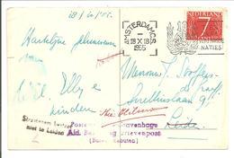 UNO 1945-1955. Bureel Der Rebuten Amsterdam>Leiden>Utrecht - Periode 1949-1980 (Juliana)