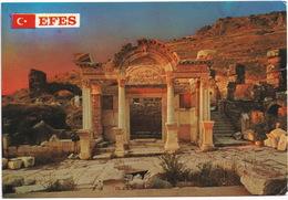 Efes - The Temple Of Hadriyanus And Kureler Street - (Türkiye) - Turkije