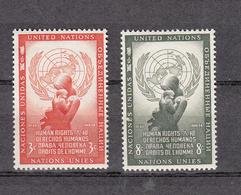 NATIONS  UNIES  NEW-YORK  1954   N° 29 - 30    NEUFS**   CATALOGUE YVERT&TELLIER - Ungebraucht