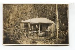 Tasmania - Twilight Tarn, Men At A Ski Club Hut - 1934 Real Photo Postcard - Wilderness