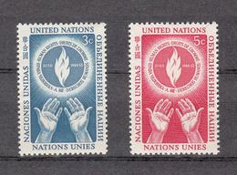 NATIONS  UNIES  NEW-YORK  1953   N° 21 - 22    NEUFS**   CATALOGUE YVERT&TELLIER - New York -  VN Hauptquartier