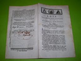 An 3:Organisation D'un établissement Pour Aveugles Travailleurs.Vente Biens Nationaux.Traité De Paix France Espagne ... - Decrees & Laws