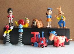 Kinder 2006 : Série Complète : Le Manège Enchanté + 2 Variantes (9 Figurines Avec 9 BPZ) - Dessins Animés