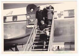 AEREO - PLANE - ALITALIA - HOSTESS - ITALIA '61 - FOTO ORIGINALE - Aviazione