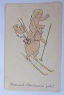 Neujahr, Schwein, Engel, Ski,  1921 ♥ (19360) - Neujahr