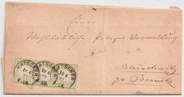 1873, 3 Mal Nr. 2,schöner Brief ! Mi. 300.-    , #a1927 - Deutschland