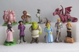 Kinder 2007 : Série Complète : Shrek 3 (10 Figurines) - Dessins Animés
