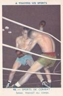 Vers 1950 LES SPORTS / DE COMBAT / BOXE :CROCHET DU DROIT ET TRAVAIL AU CORPS - Boxing