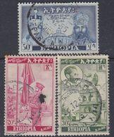 Ethiopie N° 286 / 88  O : Partie Série : 20ème Ann. Du Couron De L'emperur H. Séléssié Les 3 Vals Oblité. Moy. Sinon TB - Ethiopie