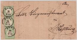 Nr. 23, 3er Streifen,auf Brief ! Gute Erhaltung, Mi. 300.-    , #a1928 - Briefe U. Dokumente