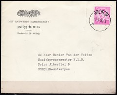 1067 Met Stempel Wilrijk Brief - 1953-1972 Lunettes