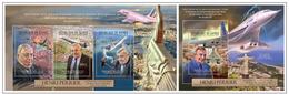 Guinea 2012 Planes Aviation Henri Perrier Klb + S/s MNH - Montgolfières