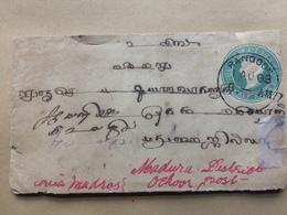 INDIA Used In Burma 1903 Victoria Cover Rangoon To Madura - 1882-1901 Imperio