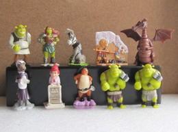 Kinder 2010 : Série Complète : Shrek 4 + 1 Variante (10 Figurines Avec 1 BPZ) - Dessins Animés