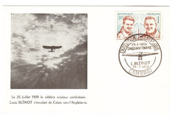AVIATION - LOUIS BLERIOT - CP Philatélique Cinquantenaire L. BERIOT, CAMBRAI - 25.7.1909 - 25.7.1959 - Aviadores