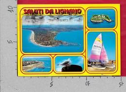CARTOLINA VG ITALIA - Saluti Da LIGNANO (UD) - Vedutine Multivue - 10 X 15 - ANN. 199? - Saluti Da.../ Gruss Aus...