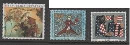 Croatia 1994, Used, Michel 305  Loreto, 293 Saint-Exsupery, 289 Cro.-American Brotherhood Society - Croazia