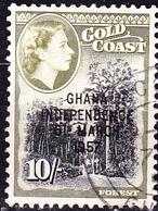 "Ghana - Ghana - Marken Goldküste Mit Aufdruck ""GHANA/INDEPENDENCE/6TH MARCH,/1957"" (Mi.Nr.: 16) 1957 - Gest Used Obl. - Ghana (1957-...)"