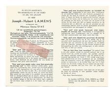 D 653. JOSEPH LAMENS - Oudstrijder 1814/18-Herinneringsmed.fort LONCIN Met Band - BEVINGEN (ST-TRUIDEN) 1887 / 1965 - Devotion Images